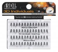ARDELL - 3D Individuals - Clumps of false eyelashes - MEDIUM BLACK - MEDIUM BLACK