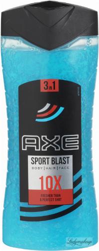 AXE - SPORT BLAST Body, Hair, Face Wash - Multifunctional shower gel for men - 400 ml