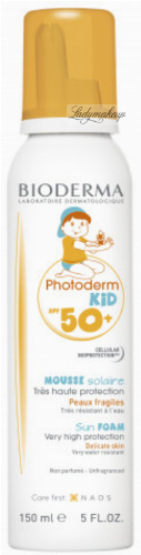 BIODERMA - Photoderm Kid SPF 50+ Sun Foam - Waterproof protective foam for children - 150 ml