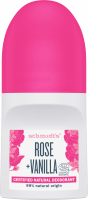 Schmidt's - Certified Natural Deodorant - Rose + Vanilla - Natural roll-on deodorant - 50 ml