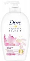 Dove - Nourishing Secrets - Glowing Ritual Handwash - Pielęgnujące mydło do rąk w płynie - Lotos & Woda Ryżowa - 250 ml
