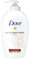 Dove - Caring Hand Wash Fine Silk - Pielęgnujące mydło w płynie do rąk z jedwabiem - 250 ml