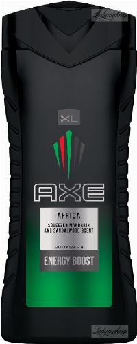 AXE - AFRICA BODYWASH ENERGY BOOST - Żel pod prysznic dla mężczyzn - Mandarynka & Drzewo Sandałowe - 400 ml