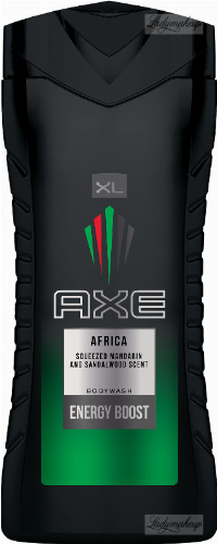 AXE - AFRICA BODYWASH ENERGY BOOST - Shower gel for men - Mandarin & Sandalwood - 400 ml