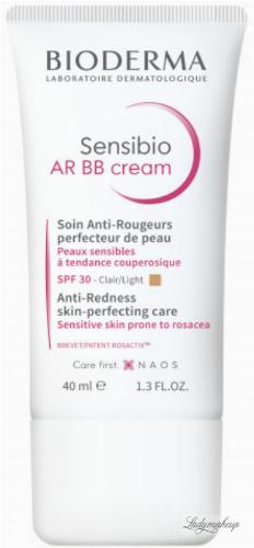 BIODERMA - Sensibio AR BB Cream - BB cream for skin with vascular problems SPF 30 - Light - 40 ml