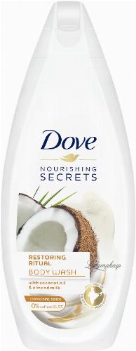 Dove - Nourishing Secrets - Restoring Ritual Body Wash - Żel pod prysznic - Kokos i Mleko Migdałowe - 250 ml