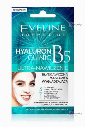 Eveline Cosmetics - HYALURON CLINIC - ULTRA NAWILŻENIE - Błyskawiczna maseczka wygładzająca