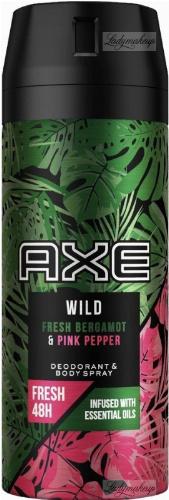 AXE - WILD - DEODORANT & BODY SPRAY - Dezodorant w aerozolu dla mężczyzn - Bergamotka & Różowy Pieprz - 150 ml