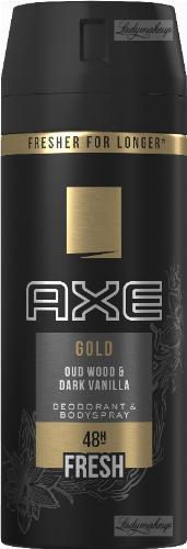 AXE - GOLD - DEODORANT & BODY SPRAY - Aerosol deodorant for men - Wood & Dark Vanilla - 150 ml