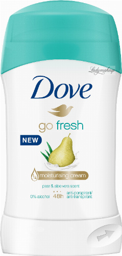 Dove - Go Fresh - 48h Anti-Perspirant - Antyperspirant w sztyfcie - Gruszka i Aloes - 40 ml