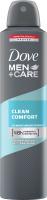 Dove - Men+Care - Clean Comfort 48H Antiperspirant - Antyperspirant w areozolu dla mężczyzn - 250 ml