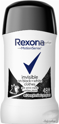 Rexona - Invisible On Black + White Clothes Anti-Perspirant - Antyperspirant w sztyfcie - 40 ml