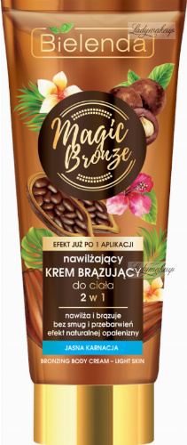 Bielenda - Magic Bronze - Bronzing Body Cream - Light Skin - 2in1 Moisturizing bronzing body cream - Light complexion - 200 ml