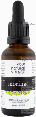 Your Natural Side - 100% naturalny olej moringa - 30 ml