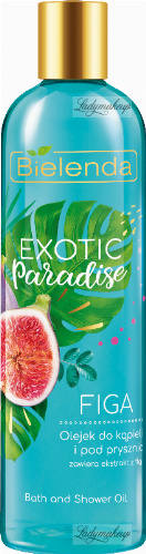 Bielenda - Exotic Paradise - Bath and Shower Oil - Bath and shower oil - Fig - 400 ml