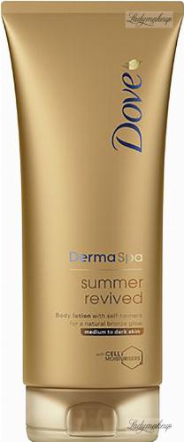 Dove - Derma Spa Summer Revived Body Lotion - Balsam do ciała z samoopalaczem do średniej i ciemnej karnacji - 200 ml