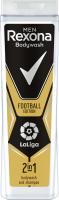 Rexona - Men - Bodywash and Shampoo 2in1 - Football Edition - 2in1 shower gel and shampoo for men - LaLiga - 400 ml