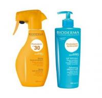 BIODERMA - Zestaw rodzinny kosmetyków do opalania - Photoderm Spray SPF30 400ml + Photoderm After-Sun Milk 500 ml