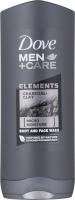 Dove - Men+Care - Elements - Charcoal + Clay - Body and Face Wash - Żel pod prysznic do mycia ciała i twarzy dla mężczyzn - 400 ml
