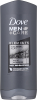 Dove - Men + Care - Elements - Charcoal + Clay - Body and Face Wash - Body and face shower gel for men - 400 ml