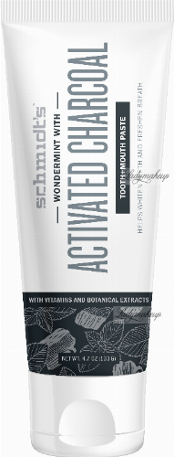 Schmidt's - Wondermint With Activated Charcoal Tooth + Mouth Paste - Naturalna węglowa pasta do zębów - 100 ml