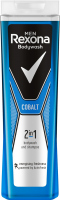 Rexona - Men - Bodywash and Shampoo 2in1 - Żel pod prysznic i szampon 2w1 dla mężczyzn - Cobalt - 400 ml