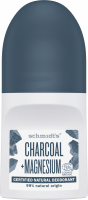 Schmidt's - Certified Natural Deodorant - Charcoal + Magnesium - Natural roll-on deodorant with carbon and magnesium - 50 ml