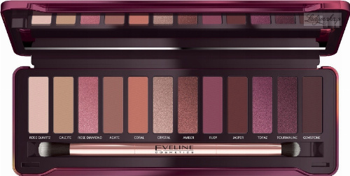 Eveline Cosmetics - Ruby Glamour Eyeshadow Palette - Paleta 12 cieni do powiek