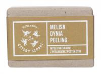 Mydlarnia Cztery Szpaki - Mydło naturalne z peelingiem z pestek dyni - Melisa, dynia, peeling - 110 g
