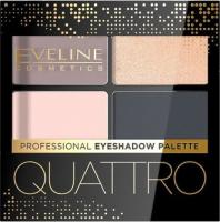 EVELINE - QUATTRO - Professional Eyeshadow Palette - Paleta 4 cieni do oczu - 3,2 g