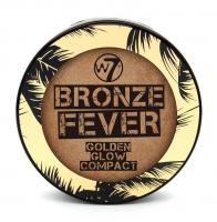 W7 - BRONZE FEVER - GOLDEN GLOW COMPACT - Rozświetlający puder brązujący