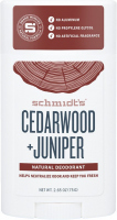 Schmidt's - Cedarwood + Juniper Natural Deodorant - Natural Stick Deodorant - 58 ml