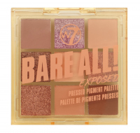 W7 - BARE ALL - PRESSED PIGMENT PALETTE - Palette of 9 eyeshadows - EXPOSED