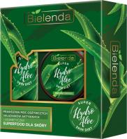 Bielenda - SUPER Hydro Aloe SKIN DIET - Zestaw kosmetyków - Peeling Cukrowy 350 g + Olejek do kąpieli i pod prysznic 400 ml