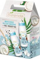 Bielenda - BEAUTY MILK - Zestaw prezentowy kosmetyków do pielęgnacji ciała - Mleczko kokosowe do ciała 400 ml + Mleczko kokosowe do kąpieli i pod prysznic 400 ml