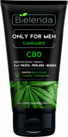 Bielenda - ONLY FOR MEN CANNABIS CBD - Cosmetics set for men - Strongly moisturizing cream 50 ml + Face cleansing paste 150 g