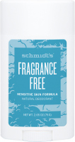Schmidt's - Fragrance Free Natural Deodorant - Naturalny dezodorant w sztyfcie - 58 ml