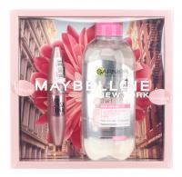 MAYBELLINE - Zestaw prezentowy kosmetyków - Tusz Lash Sensational + Garnier Płyn Micelarny 3w1 400 ml