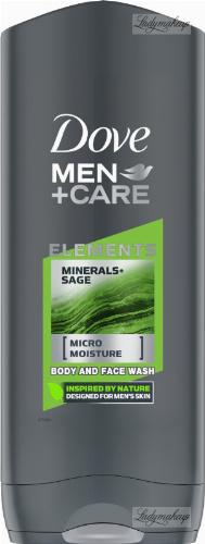 Dove - Men+Care - Elements - Minerals + Sage - Body and Face Wash - Żel pod prysznic do mycia ciała i twarzy dla mężczyzn - 250 ml