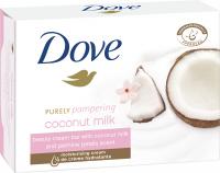 Dove - Coconut Milk Beauty Cream Bar - Kremowe mydło w kostce z mlekiem kokosowym - 100 g