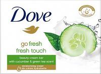 Dove - Fresh Touch Beauty Cream Bar - Kremowe mydło w kostce z ekstraktem z ogórka - 100 g