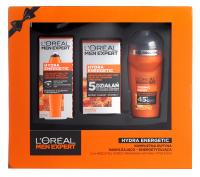 L'Oréal - Men Expert - Hydra Energetic - Zestaw prezentowy kosmetyków do mężczyzn - Roll-On pod oczy + Krem do twarzy + Antyperspirant