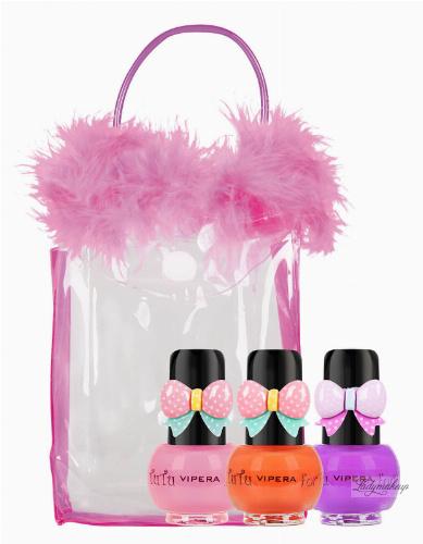 VIPERA - Tutu Set - Zestaw prezentowy 3 lakierów Peel Off dla dzieci w kosmetyczce - 16