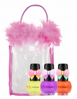 VIPERA - Tutu Set - Gift set of 3 Peel Off nail polishes for children in a cosmetic bag - 12