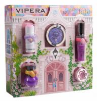 VIPERA - Magic Tutu Collection - Zestaw prezentowy 5 kosmetyków dla dzieci + Domek - 05 Violet Coupe