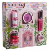 VIPERA - Magic Tutu Collection - Zestaw prezentowy 5 kosmetyków dla dzieci + Domek - 01 Scarlet Bow