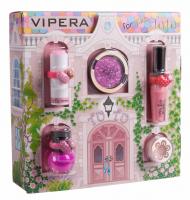 VIPERA - Magic Tutu Collection - Zestaw prezentowy 5 kosmetyków dla dzieci + Domek - 03 Pink Pirouette
