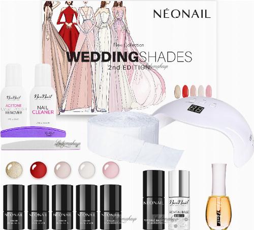 NeoNail - Wedding Shades 2nd Edition Starter Set - Zestaw startowy do manicure hybrydowego - 7786