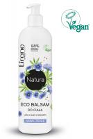 Lirene - Natura Eco Body Balm - Nawilżający balsam do ciała - Len & Olej z konopi - 350 ml