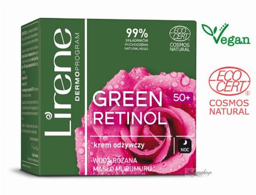 Lirene - GREEN RETINOL 50+ Odżywczy krem do twarzy na noc - 50 ml
